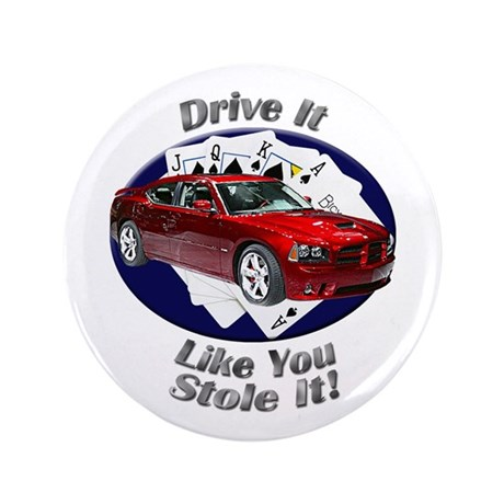 Dodge Charger SRT8 3.5 Inch Button (100 pack)