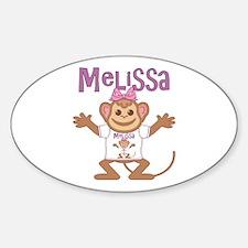 Little Monkey Melissa Decal