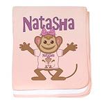 Little Monkey Natasha baby blanket