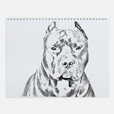 Pit Bull Head Wall Calendar