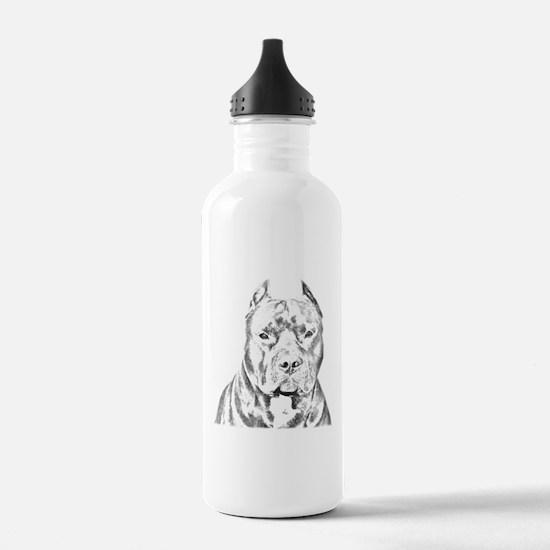 Pit Bull Head Water Bottle