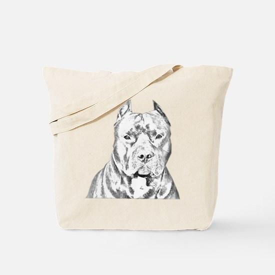 Pit Bull Head Tote Bag