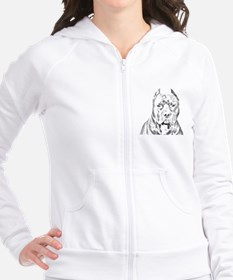 Pit Bull Head Fitted Hoodie