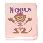 Little Monkey Nichole baby blanket
