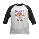 Little Monkey Nichole Kids Baseball Jersey