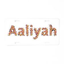 Aaliyah Fiesta Aluminum License Plate