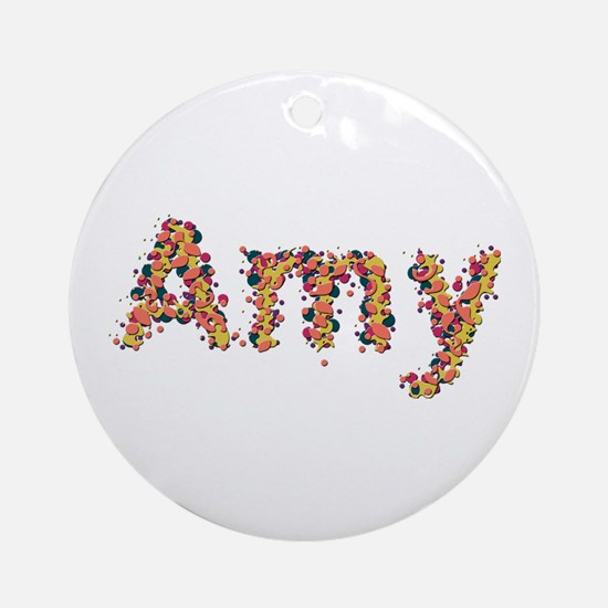 Amy Fiesta Round Ornament