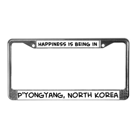 Happiness is P'yongyang License Plate Frame