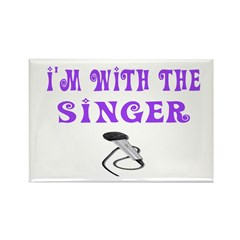 I'M WITH THE SINGER Rectangle Magnet (10 pack)