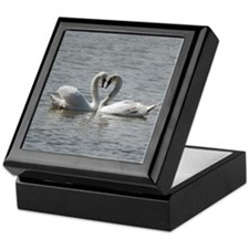 Swans in Love Keepsake Box