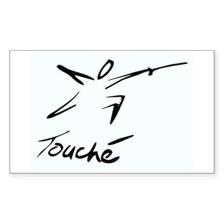 Touche Rectangle Sticker