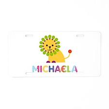 Michaela the Lion Aluminum License Plate