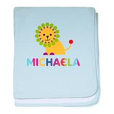 Michaela the Lion baby blanket