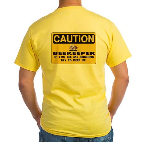 Caution Beekeeper Yellow T-Shirt