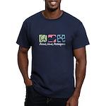 Peace, Love, Peekapoos Men's Fitted T-Shirt (dark)