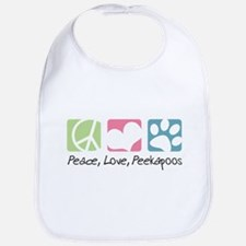 Peace, Love, Peekapoos Bib