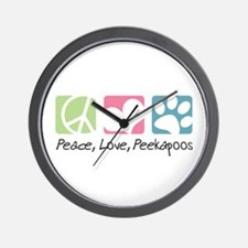 Peace, Love, Peekapoos Wall Clock