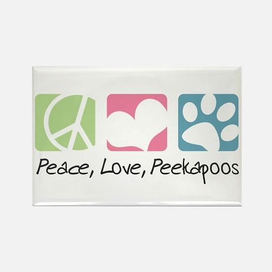 Peace, Love, Peekapoos Rectangle Magnet