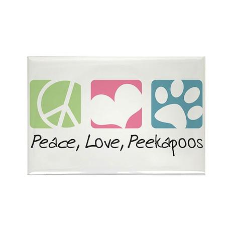 Peace, Love, Peekapoos Rectangle Magnet (100 pack)