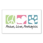 Peace, Love, Peekapoos Sticker (Rectangle 10 pk)