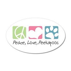Peace, Love, Peekapoos 38.5 x 24.5 Oval Wall Peel