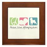 Peace, Love, Affenpinschers Framed Tile