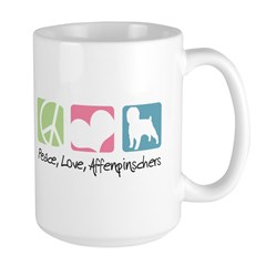 Peace, Love, Affenpinschers Mug