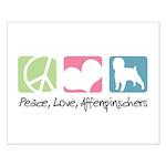 Peace, Love, Affenpinschers Small Poster