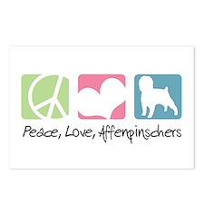 Peace, Love, Affenpinschers Postcards (Package of