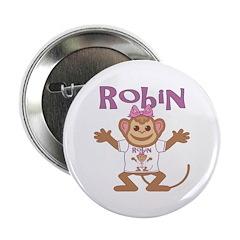 "Little Monkey Robin 2.25"" Button"
