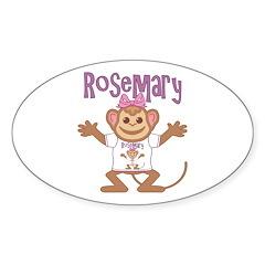 Little Monkey Rosemary Sticker (Oval)