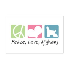 Peace, Love, Afghans Posters