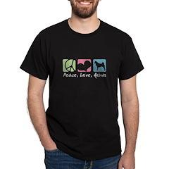 Peace, Love, Akitas T-Shirt