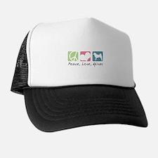 Peace, Love, Akitas Trucker Hat