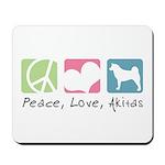 Peace, Love, Akitas Mousepad