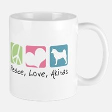 Peace, Love, Akitas Mug