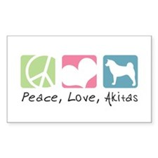Peace, Love, Akitas Decal