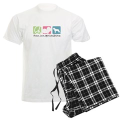 Peace, Love, American Bulldogs Pajamas