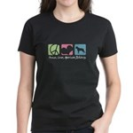 Peace, Love, American Bulldogs Women's Dark T-Shir