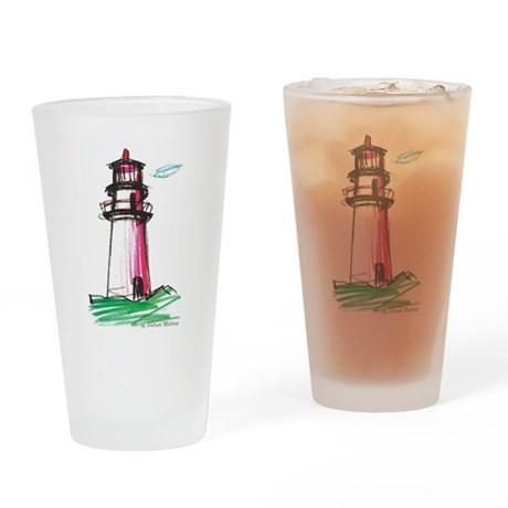 Lighthouse Drinking Glass