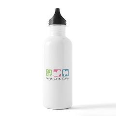 Peace, Love, Eskies Water Bottle