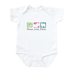 Peace, Love, Eskies Infant Bodysuit
