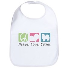 Peace, Love, Eskies Bib