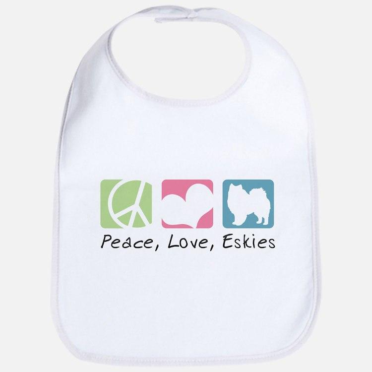 Peace, Love, Eskies Bib