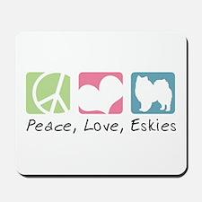 Peace, Love, Eskies Mousepad