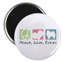 Peace, Love, Eskies Magnet