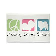 Peace, Love, Eskies Rectangle Magnet