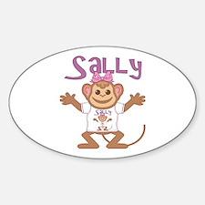 Little Monkey Sally Sticker (Oval)
