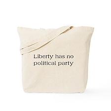 Liberty has no Political Part Tote Bag