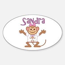 Little Monkey Sandra Sticker (Oval)